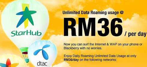 DiGi International Data Roaming at RM36/day