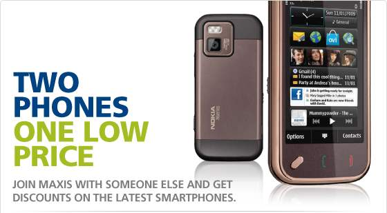 Maxis special twin phone bundle with Data Plan