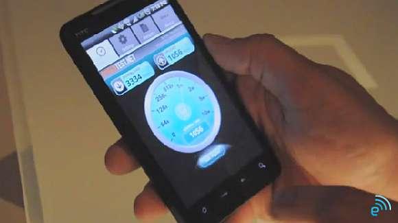 Sprint's HTC EVO 4G WiMAX speed test video