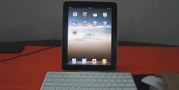 iPad with keyboard & mouse