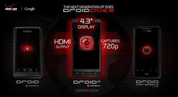 Motorola Droid X launched by Google, Motorola & Verizon
