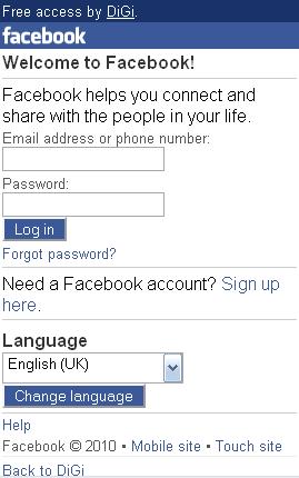 DiGi launches Facebook 0 (Zero): Free Access
