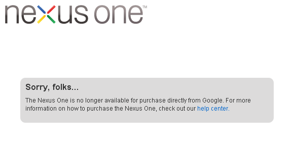 Google Nexus One SOLD OUT!