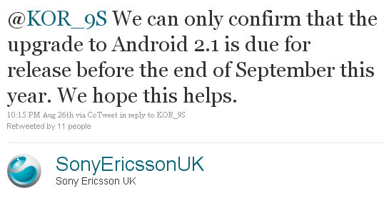 Sony Ericsson UK says Xperia X10 to get Android 2.1 in September