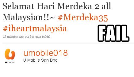 U Mobile Merdeka FAIL
