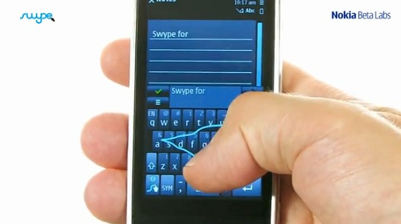 Swype for Symbian now available from Nokia Beta Labs