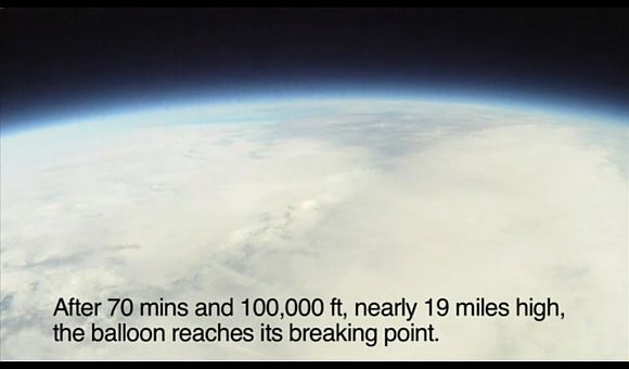 iPhone 4 launched into space with a balloon