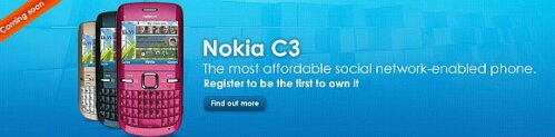 Celcom offers pre-registration for Nokia C3
