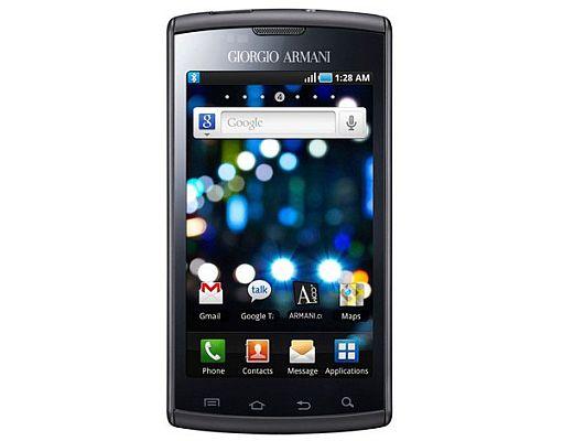 Giorgio Armani Android device based on Galaxy S
