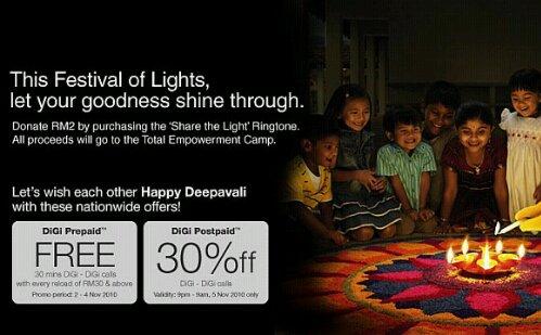 DiGi Deepavali promo for postpaid and prepaid