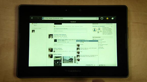 BlackBerry PlayBook shows off full featured browser