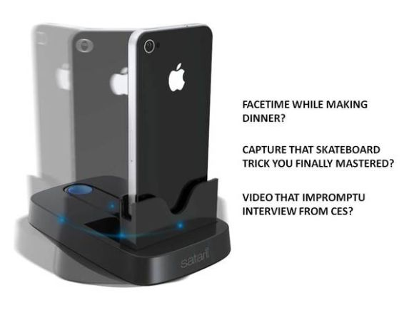 Awesome iPhone dock tracks your movement. Needs donations to go from concept to production
