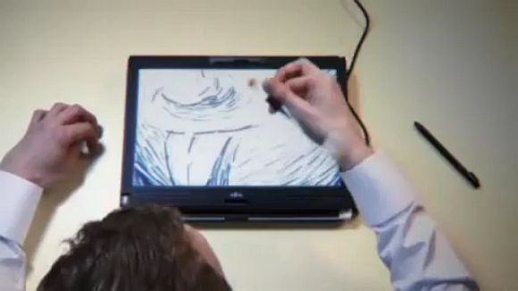 Pen spinning. A damn awesome viral video to sell Fujitsu laptops