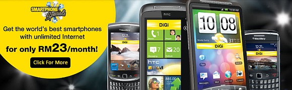 DiGi Smart Plan rebate promo on smart phones