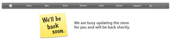 Mere hours before the iPad 2 announcement, Apple Store goes into maintenance mode