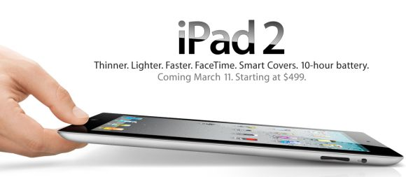 iPad 2 launched. Not much different from the original