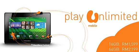BlackBerry Playbook now offered from U Mobile