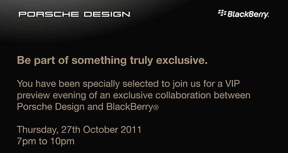 Update CONFIRMED: Porsche Design BlackBerry device to be revealed next week?