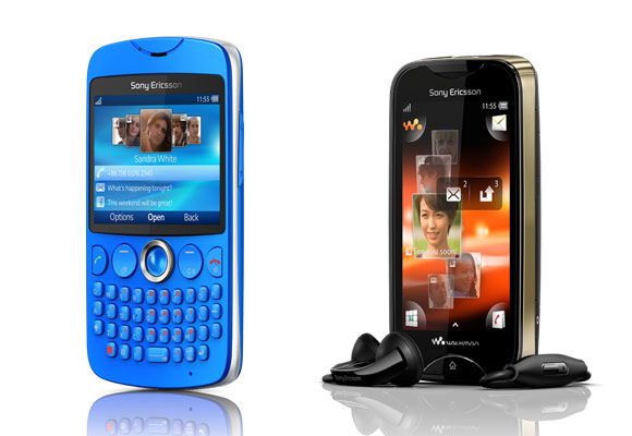 Sony Ericsson txt and Mix Walkman now available
