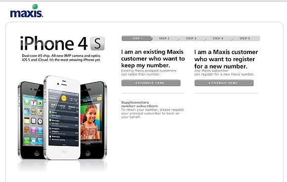 Book Your IPhone 4S With Maxis