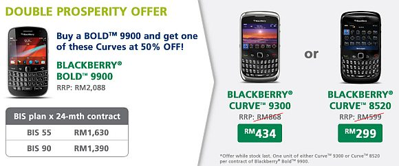Maxis Double Prosperity Offer on BlackBerry