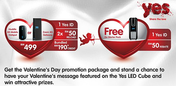 Yes offers geeky valentine's day promo with Yes LED Cube dedication