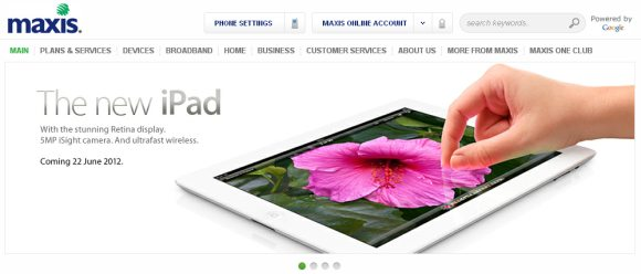 Maxis to offer bundling plans for new iPad?