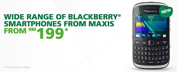 Maxis BlackBerry Curve 9320