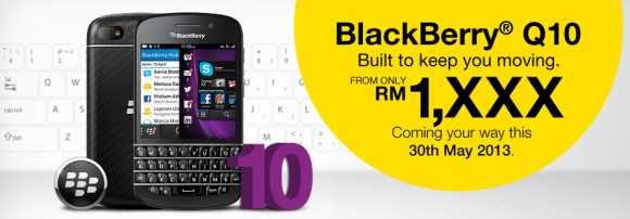 The BlackBerry Q10 is coming to DiGi