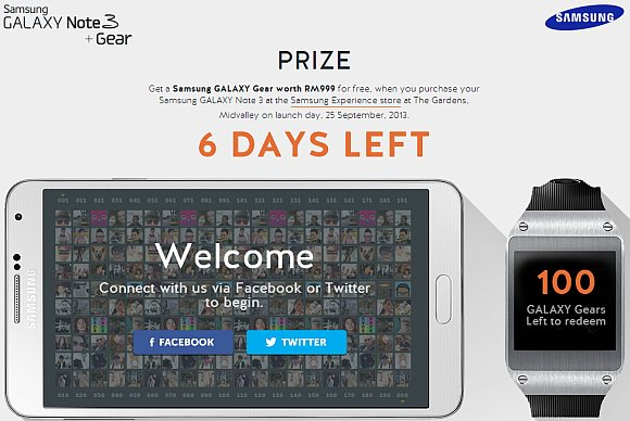 Samsung gives out 100 Galaxy Gear Smart Watches through online contest