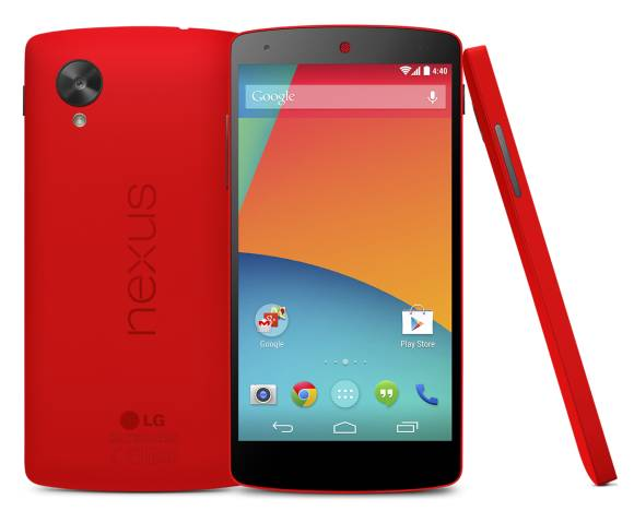 Nexus 5 now available in striking red just in time for Valentine's Day