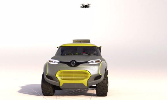 Renault concept car uses drone to look out for traffic jams