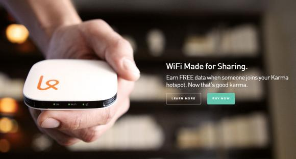 Karma WiFi hotspot, a service which gives you free quota for sharing your MiFi connectivity