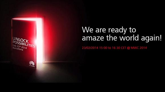 Huawei says it's ready to amaze the world at MWC 2014