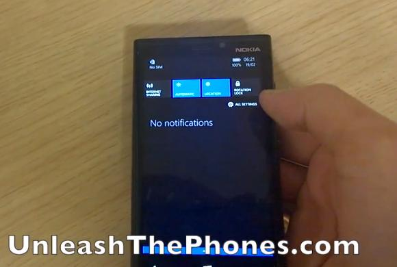 Windows Phone 8.1 upcoming Action Centre gets previewed in hands-on video