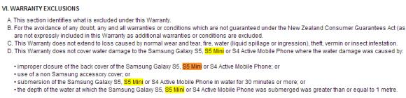 Samsung Galaxy S5 mini to have IP67 water resistance