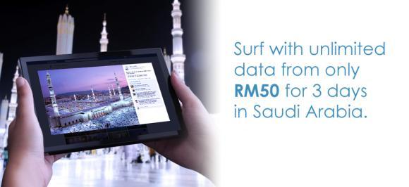 Celcom offers Pek Umrah International Roaming package for Saudi Arabia