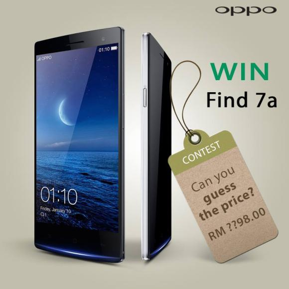 Win an Oppo Find 7a by guessing the price of the Find 7