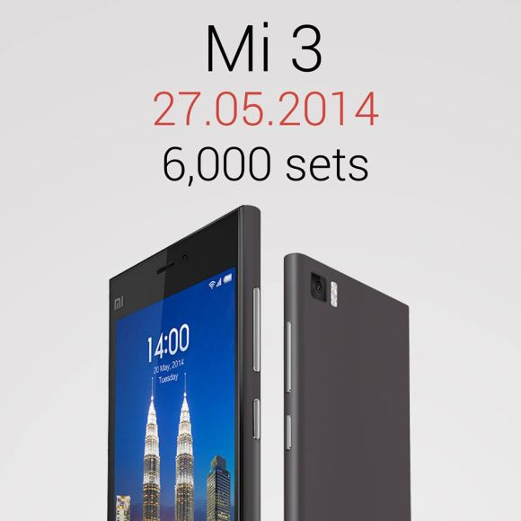 Xiaomi Mi 3 Malaysia: 4,000 units sold in 17 minutes, more arriving next week