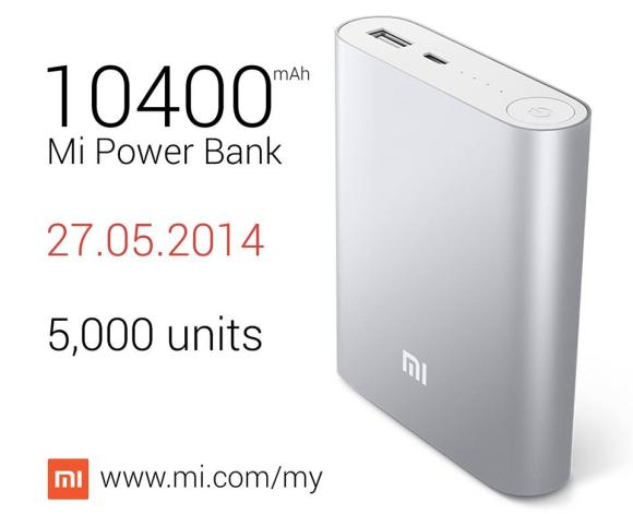 Xiaomi Malaysia stocks up 5,000 units of Mi Power Bank on 27 May