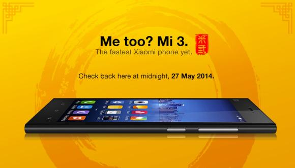 DiGi start pre-orders for Xiaomi Mi 3 at midnight tonight