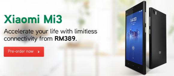 Maxis offers Mi 3 from RM389 with their latest ONEplan