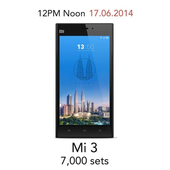 Xiaomi stocks up 7,000 Mi 3 Smart Phones and more Power Banks on 17 June