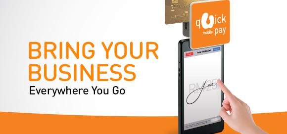 U Mobile introduces QuickPay. Allowing businesses to accept card payments on their mobile device