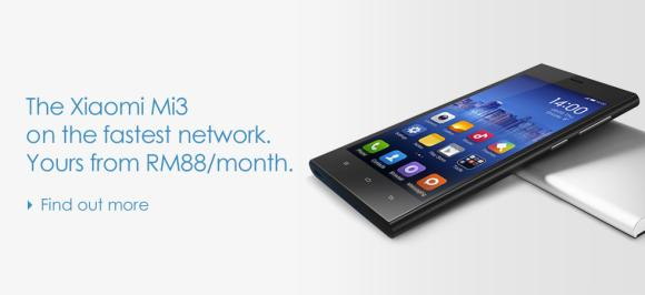 Celcom finally reveals Xiaomi Mi 3 offering. Available for Free on contract