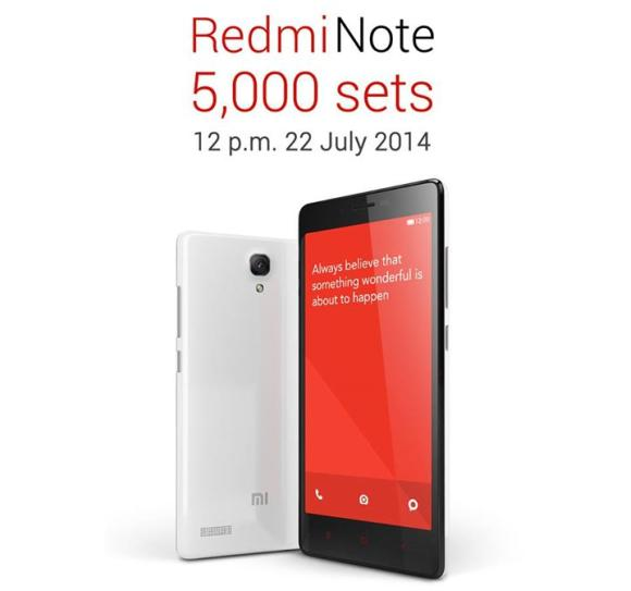 Redmi Note goes on sale this Tuesday with 5,000 units