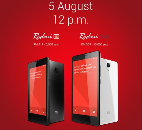 Xiaomi restocks both Redmi Note and Redmi 1S for tomorrow