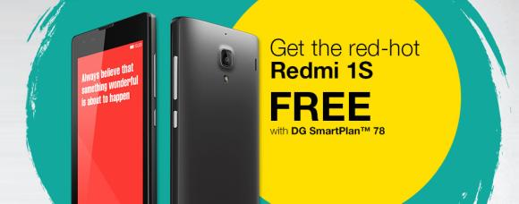 Redmi 1S offered for Free on DiGi Postpaid contract