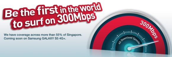 Singtel kicks off world's first 300Mbps 4G LTE-A service