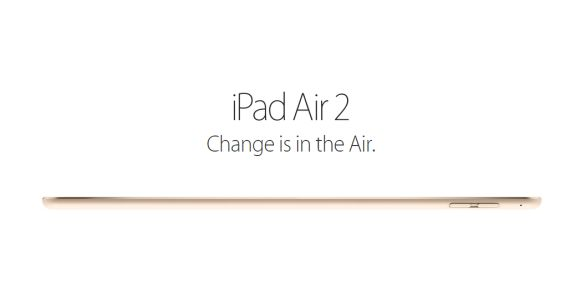 iPad Air 2 is the World's Thinnest Tablet at 6.1mm thin